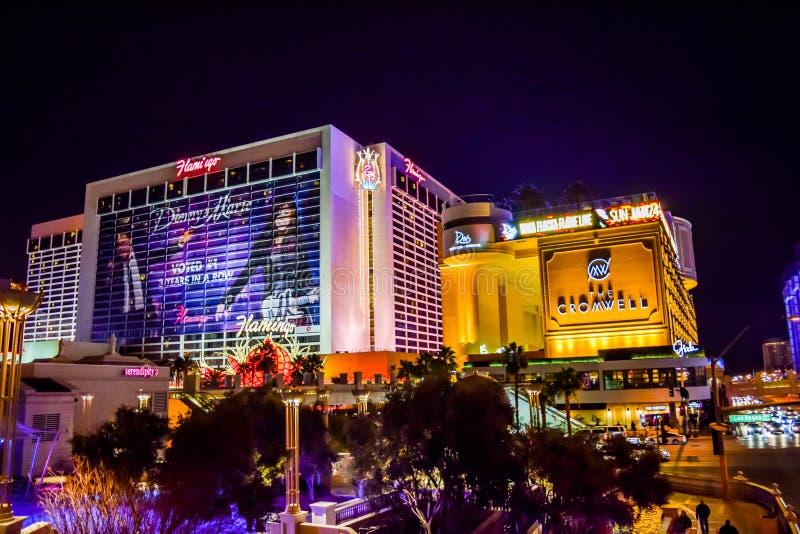 Tira Las Vegas da vista imagem de stock