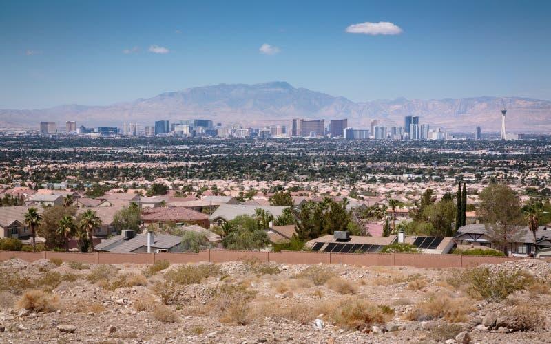 Tira Paradise de Las Vegas en el desierto imagenes de archivo