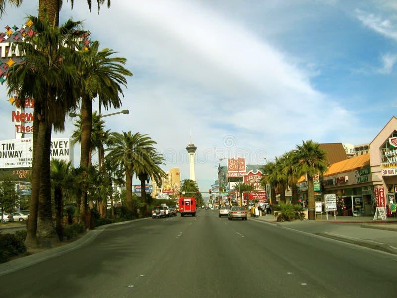Tira que dirige a la estratosfera, Las Vegas, Nevada de Las Vegas imagenes de archivo