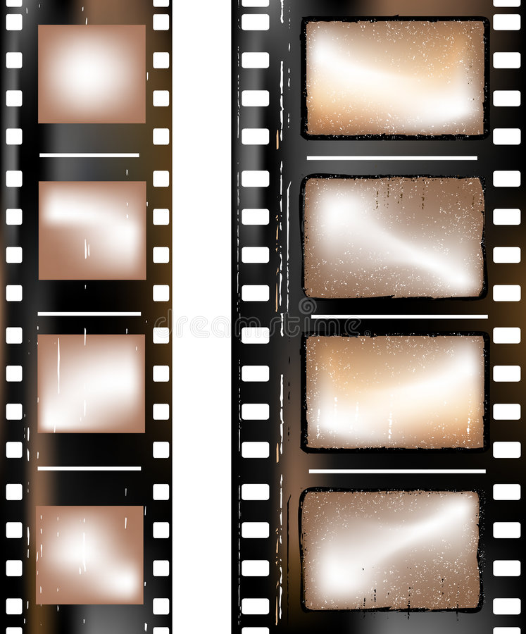 Tira Textured de la película ilustración del vector