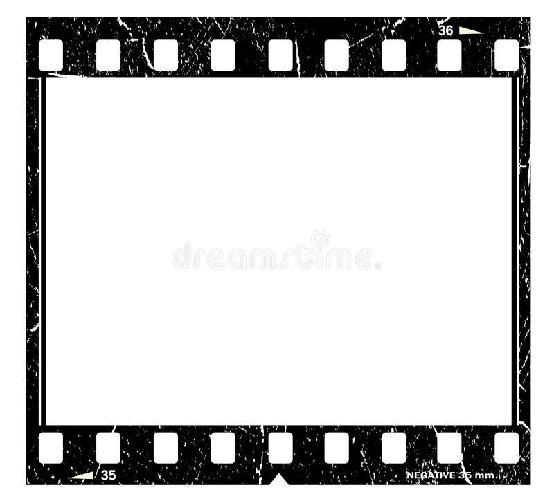 Tira velha da película ilustração do vetor