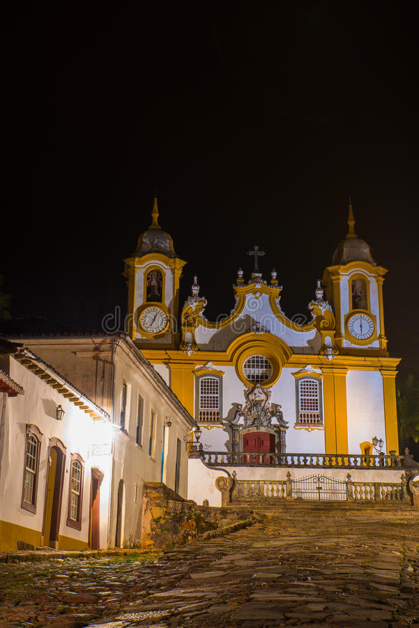 Tiradentes. Historical city Tiradentes, Minas Gerais, Brazil royalty free stock photography