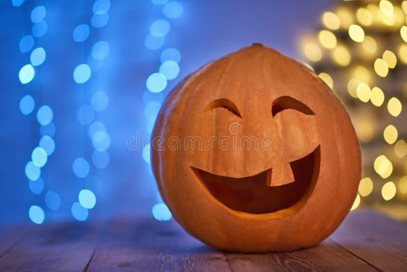 Tirado de la cabeza de enchufe de la calabaza de Halloween fotografía de archivo