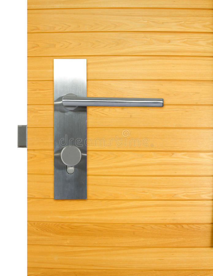 Tirador de puerta de aluminio foto de archivo libre de regalías