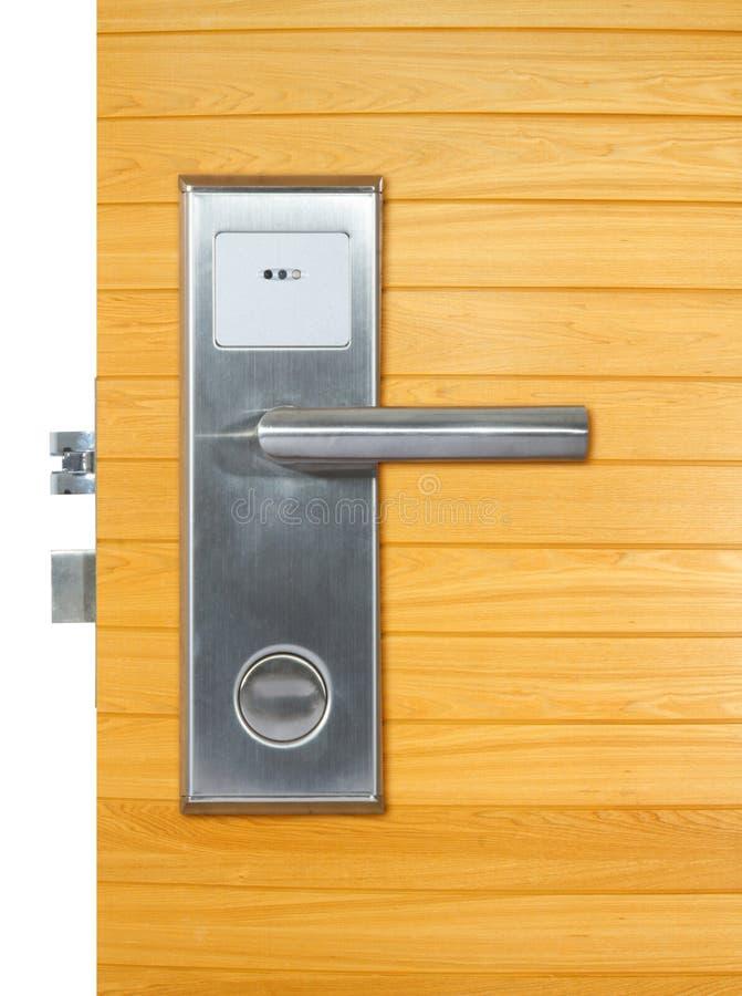 Tirador de puerta de aluminio fotografía de archivo libre de regalías