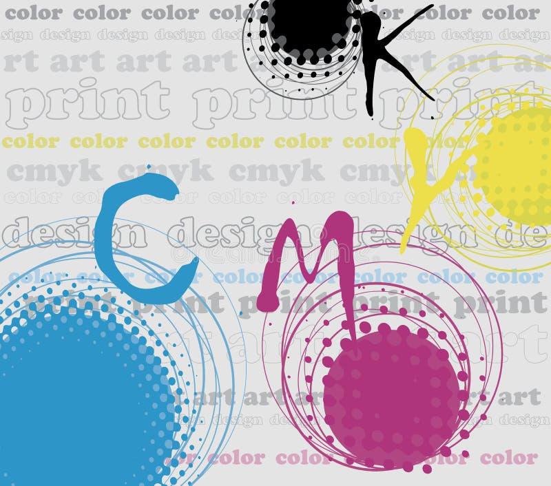 Tirage en couleurs illustration stock