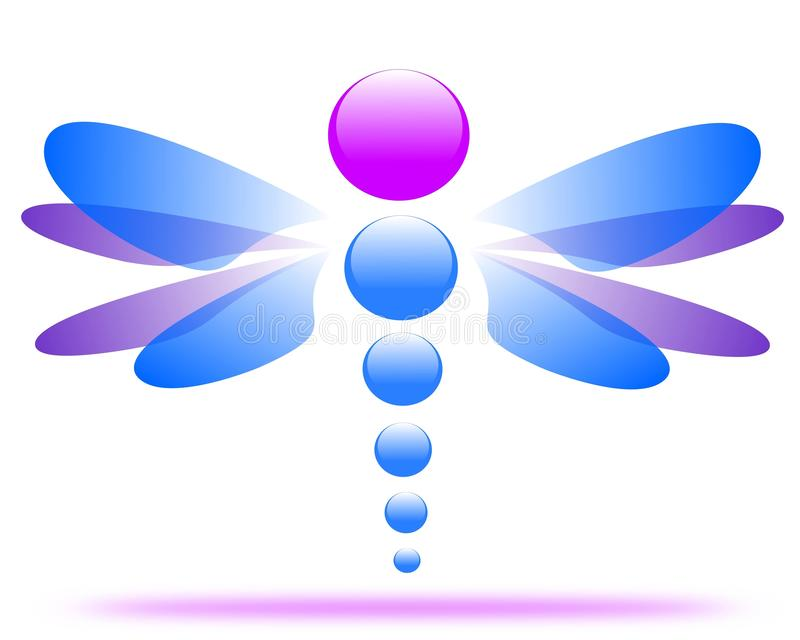 Tiragem de um logotipo da empresa da libélula ilustração do vetor