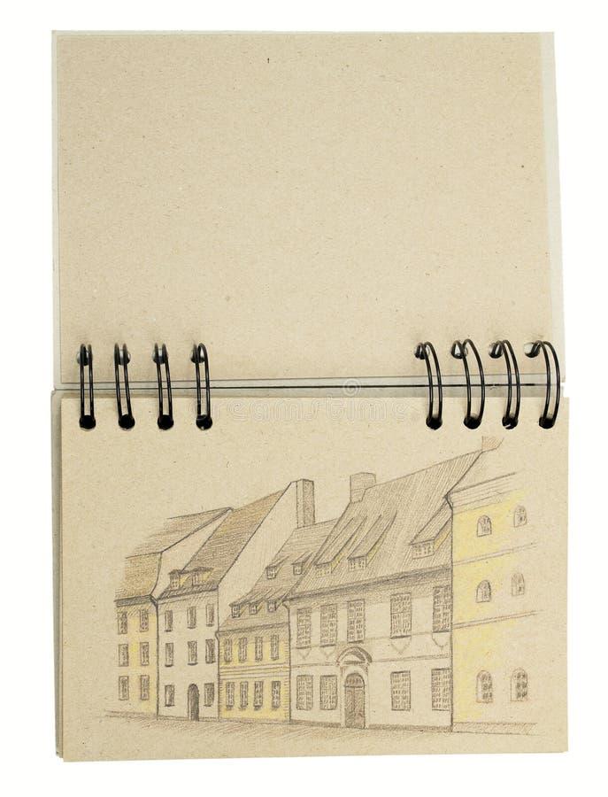 Tiragem no caderno de papel reciclado imagem de stock royalty free