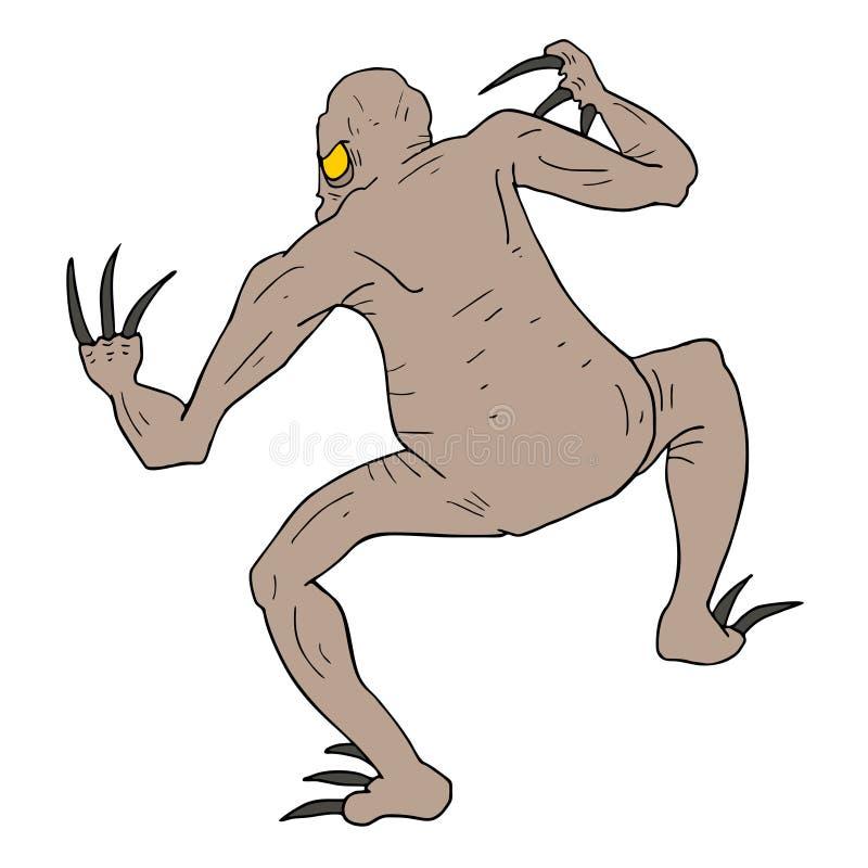 Download Tiraggio Del Mostro Del Pericolo Illustrazione Vettoriale - Illustrazione di arrabbiato, straniero: 55357282