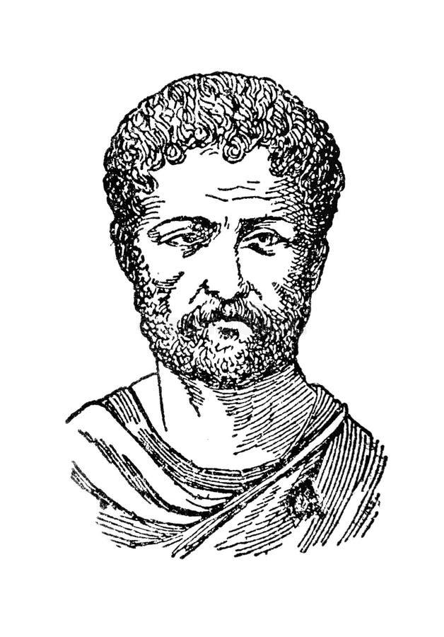 Tiraggio del ritratto di Hadrian fotografia stock