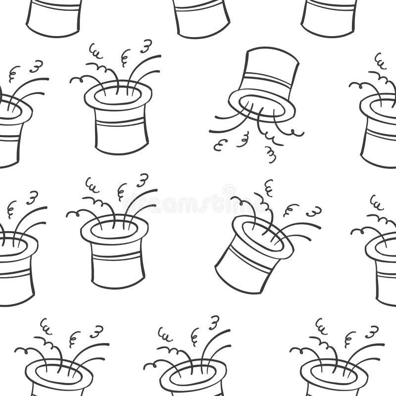 Tiraggio della mano del circo del cappello di scarabocchio illustrazione vettoriale
