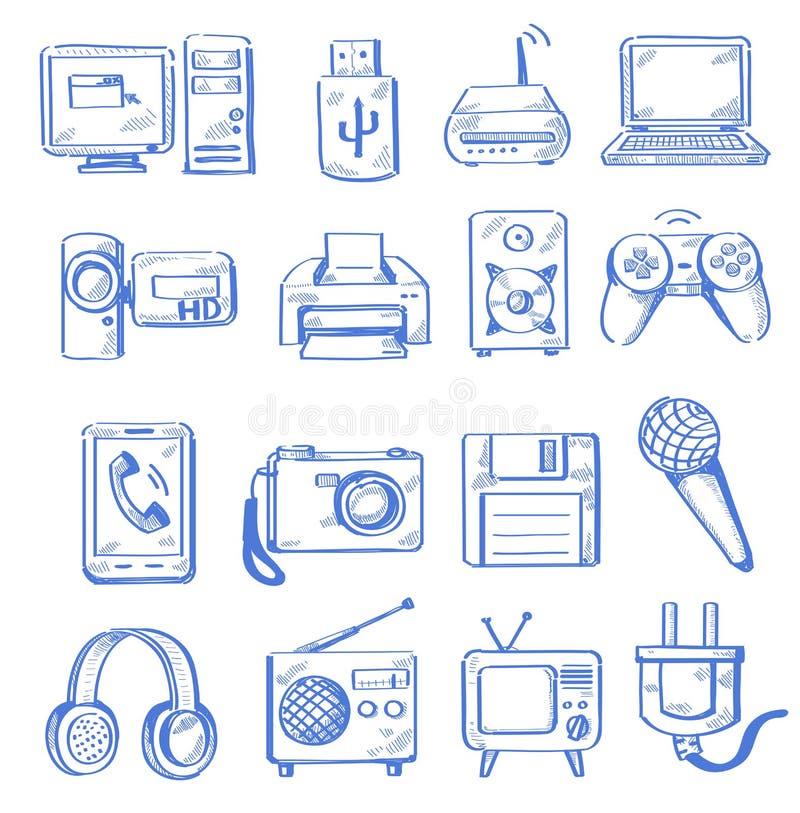 Tiraggio della mano elettronico royalty illustrazione gratis