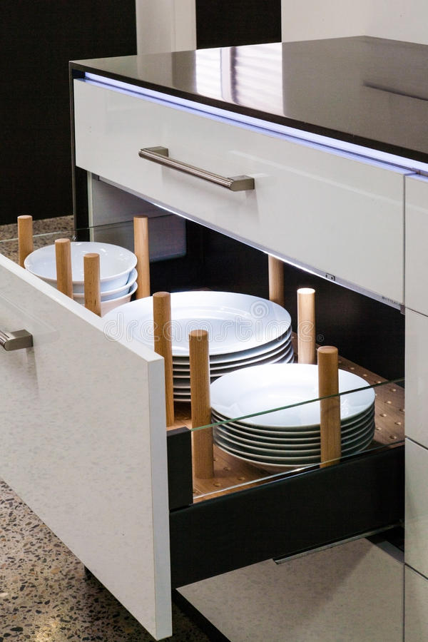 Tiraggio moderno della cucina immagini stock libere da diritti