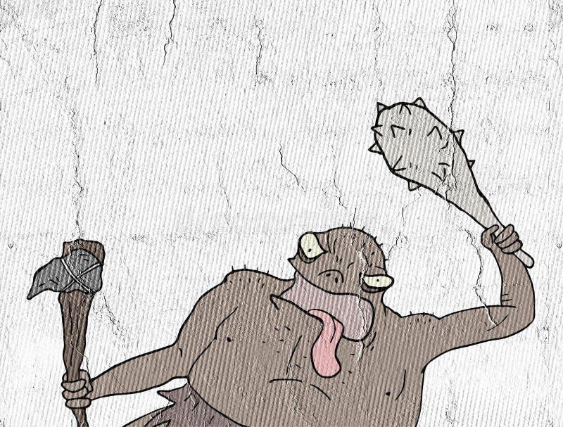 Tiraggio mutante ribelle illustrazione vettoriale