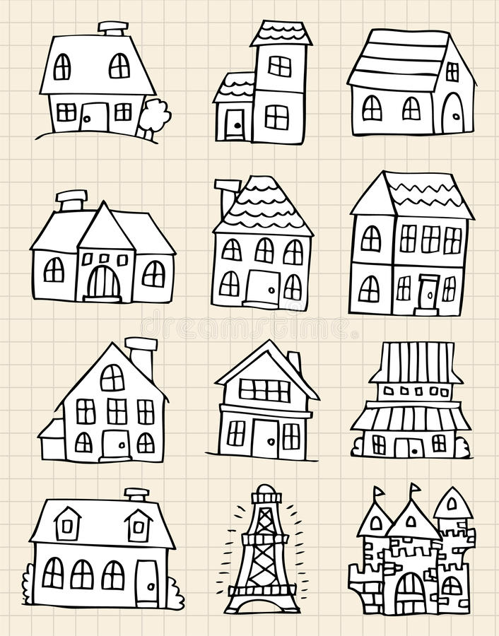 Tiraggio sveglio della casa illustrazione vettoriale