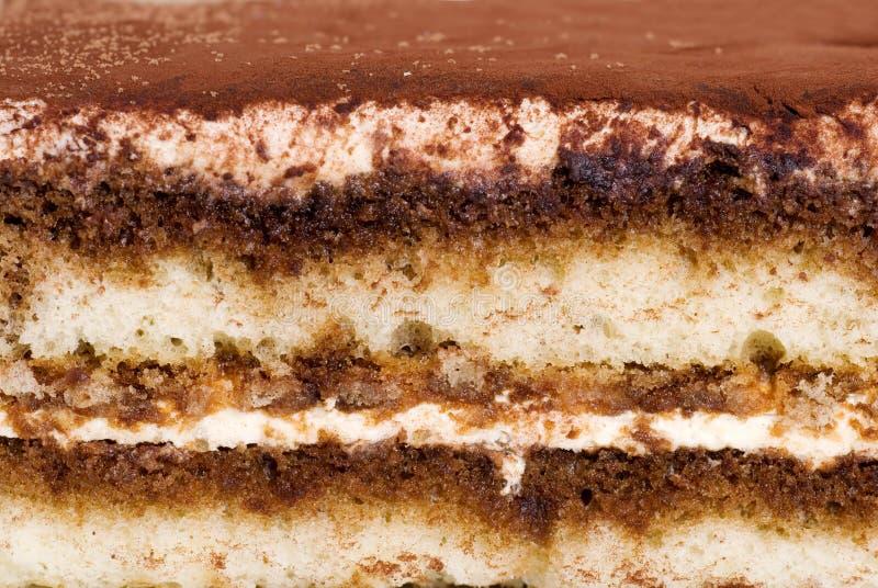 tiramisu торта предпосылки близкое делая вверх стоковые изображения
