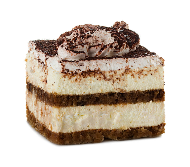 Tiramisu, bolo imagem de stock