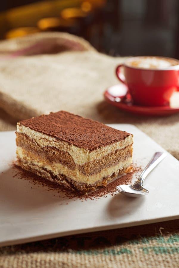 Tiramisu with coffee royalty free stock photos