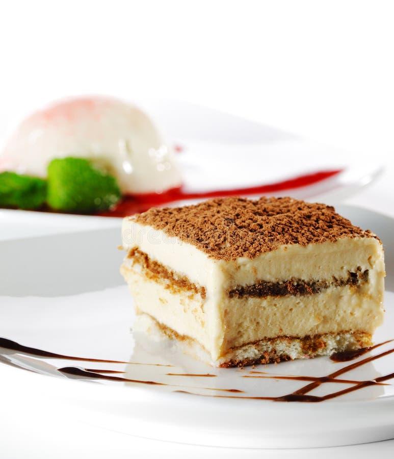 tiramisu de dessert de gâteau au fromage image stock