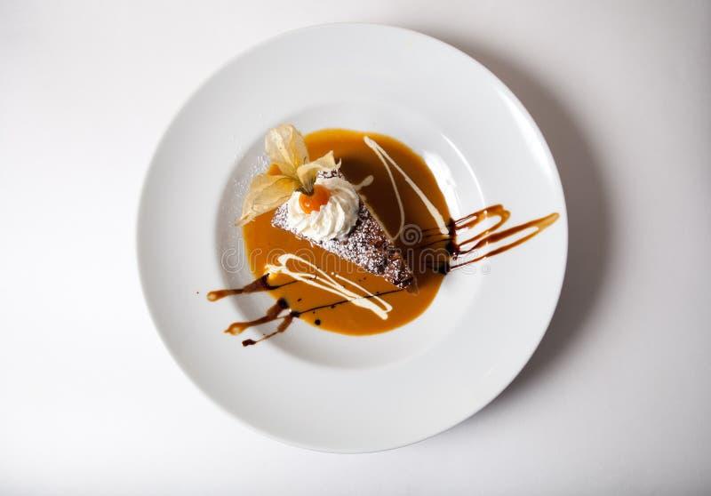 Tiramisu dessert. Delicious tiramisu dessert on plate royalty free stock images