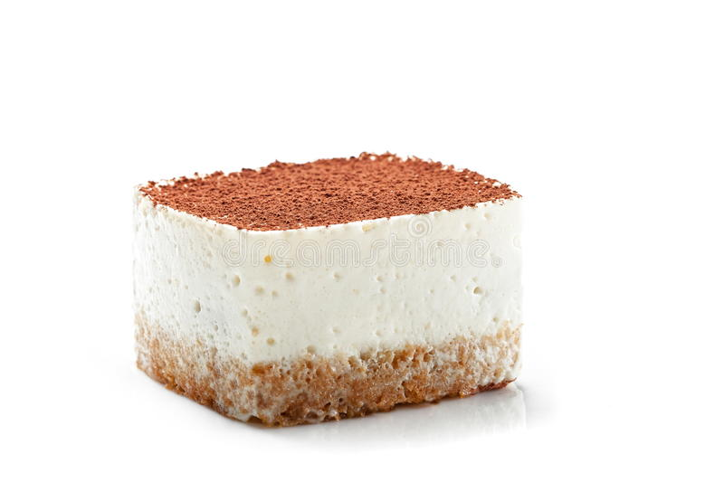Tiramisu dessert isolated royalty free stock photography