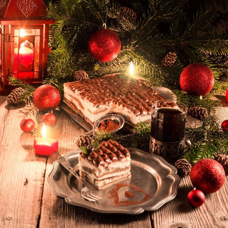 Tiramisu do Natal imagem de stock