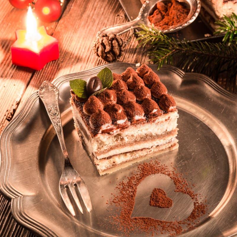 Tiramisu do Natal imagens de stock