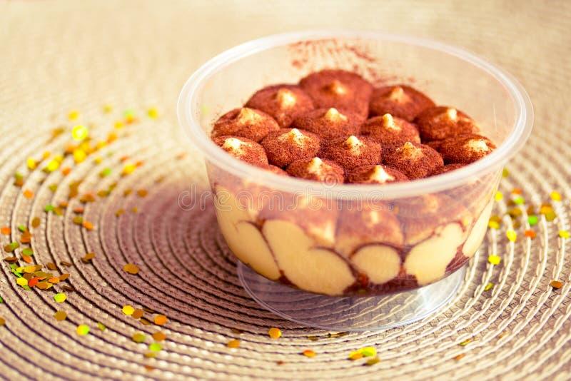 Tiramisu, Italian coffee and cream dessert stock photography