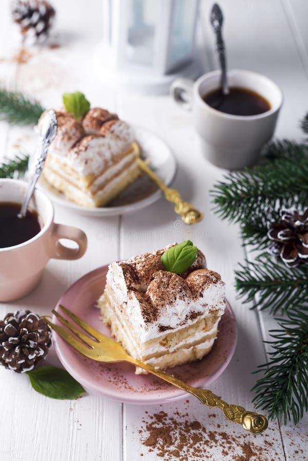 Tiramisu italiano tradizionale del dessert immagine stock libera da diritti