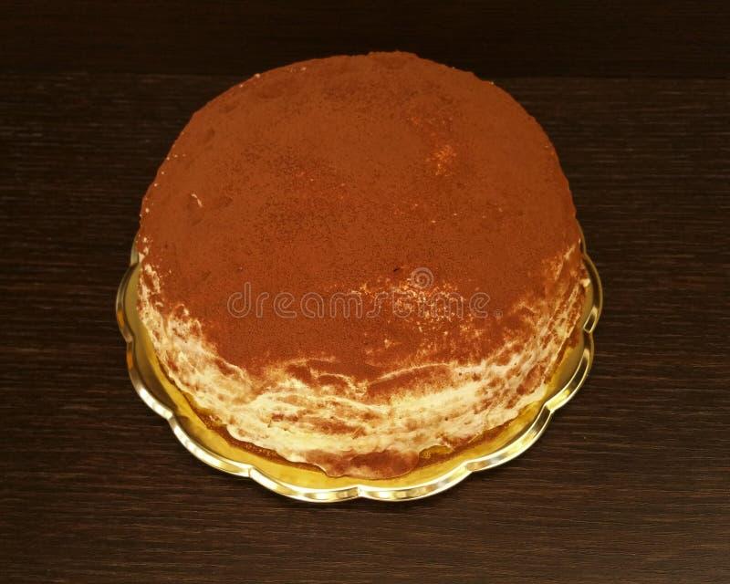 Tiramisu krep tort obrazy stock