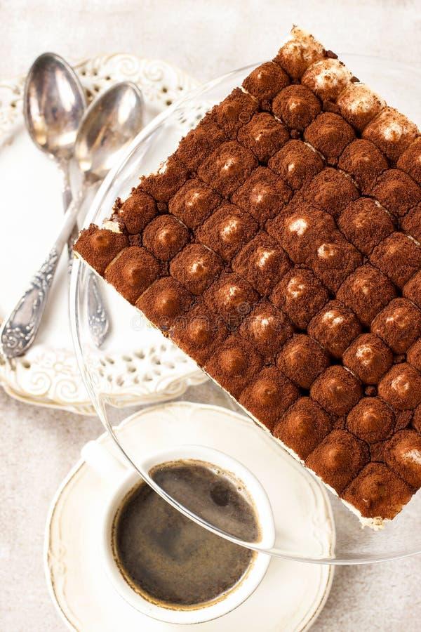 Tiramisu Kuchen stockbilder