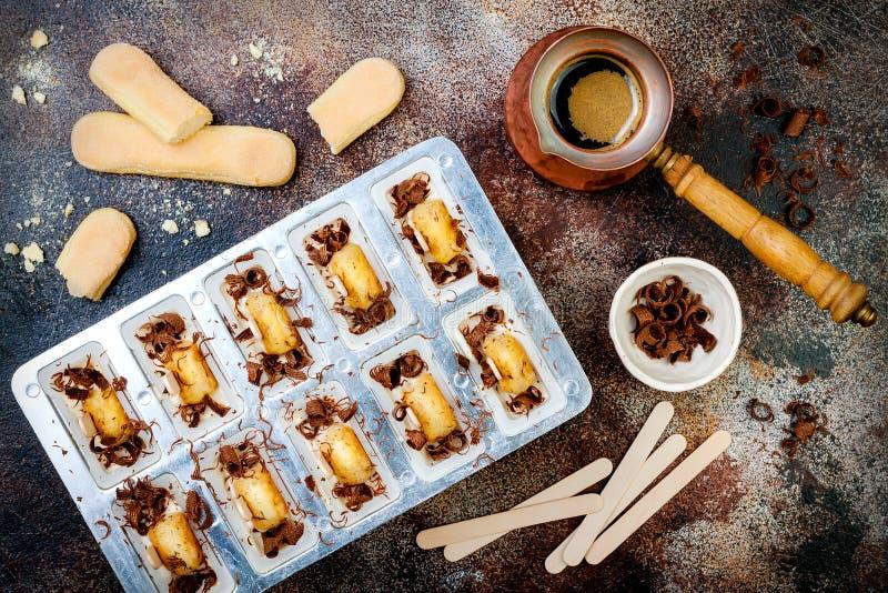 Tiramisu Popsicles Making Ice Pops With Italian Savoiardi Cookies - Making a kitchen table