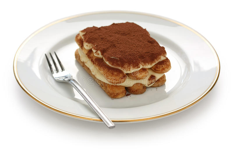Tiramisu, sobremesa italiana imagens de stock