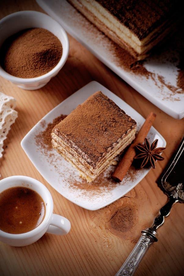 Tiramisu, uma sobremesa italiana tradicional fotos de stock royalty free