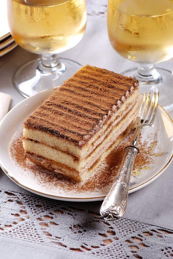 Tiramisu, un dessert italien traditionnel image libre de droits