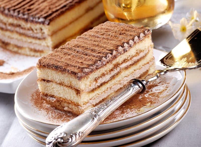 Tiramisu, un dessert italien traditionnel photographie stock libre de droits