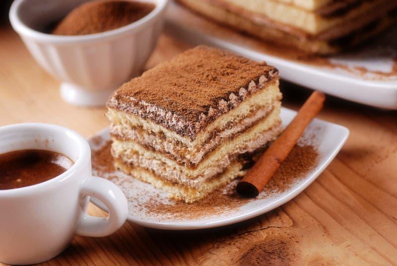Tiramisu, un dessert italien traditionnel images libres de droits