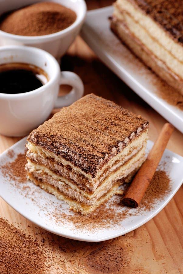 Tiramisu, un dessert italien traditionnel photos stock