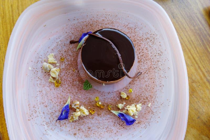 Tiramisukuchen auf der Platte, Manila lizenzfreies stockbild