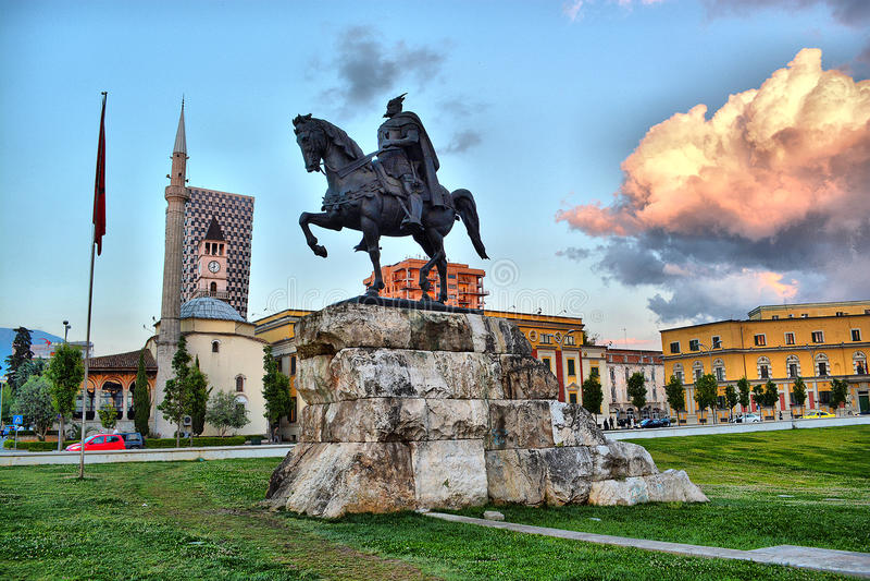 Tirana, Albânia imagens de stock