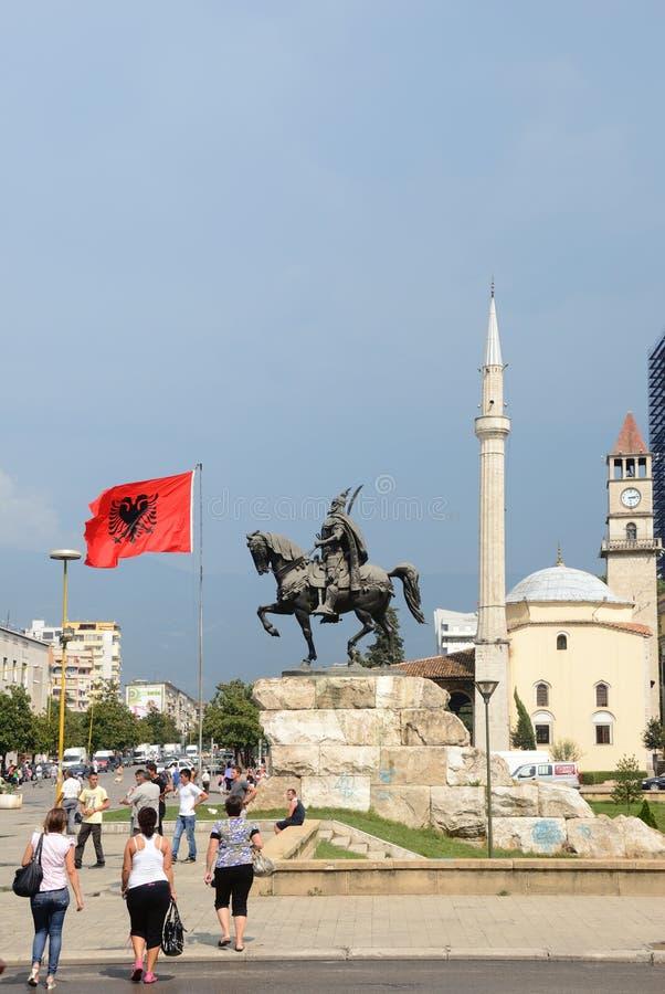 Tirana, Albanien stockbilder