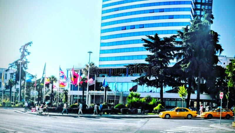 Tirana alle naties respecteert royalty-vrije stock foto's