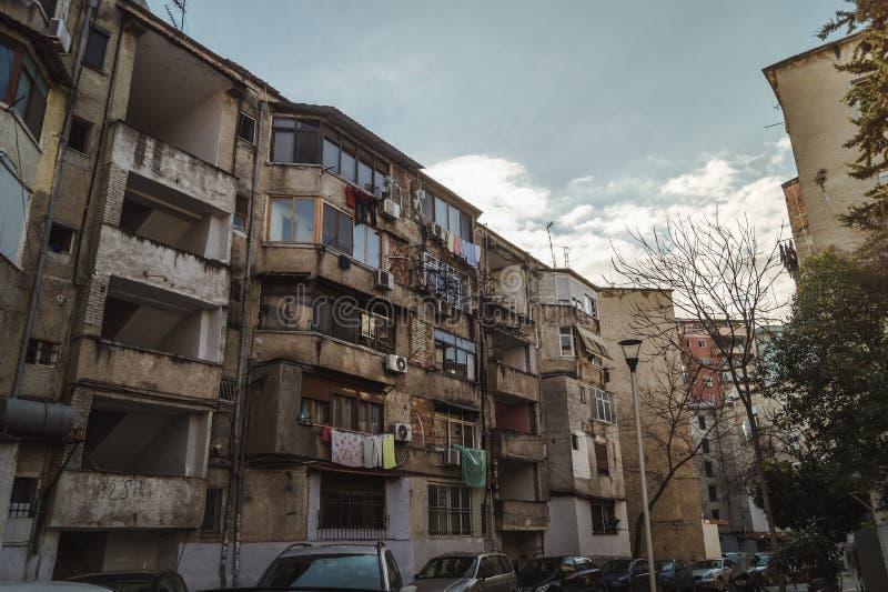 Tirana budynków architektura zdjęcie royalty free