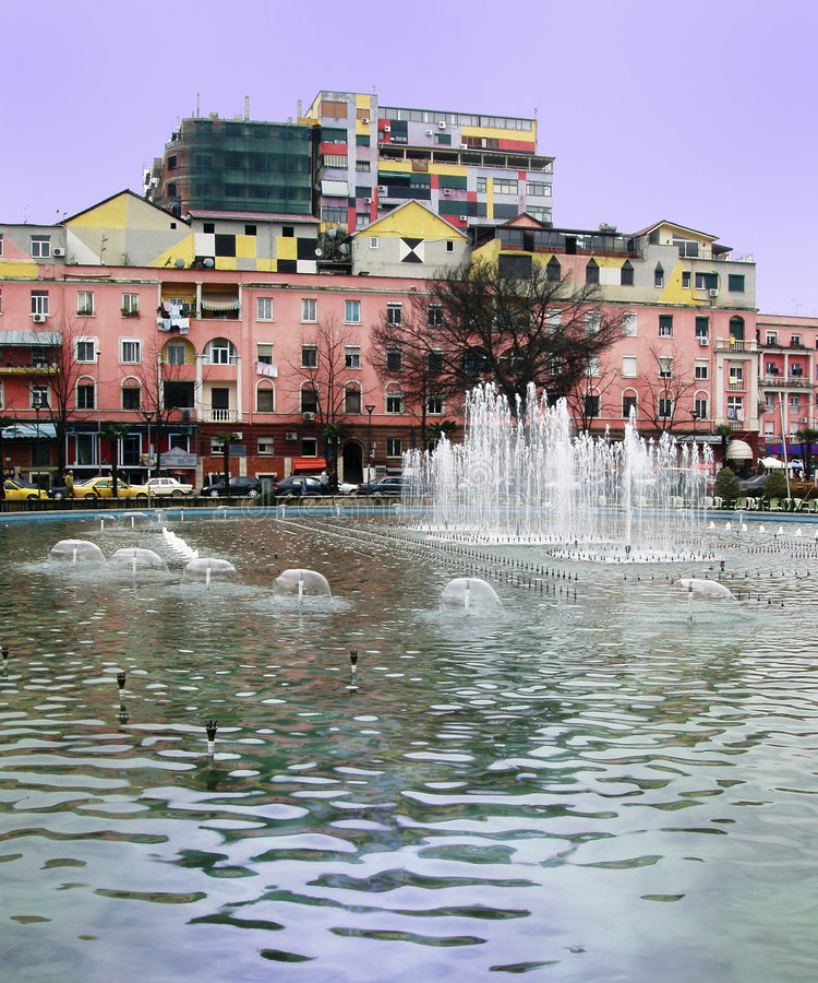 Tirana tyrana albania obraz royalty free