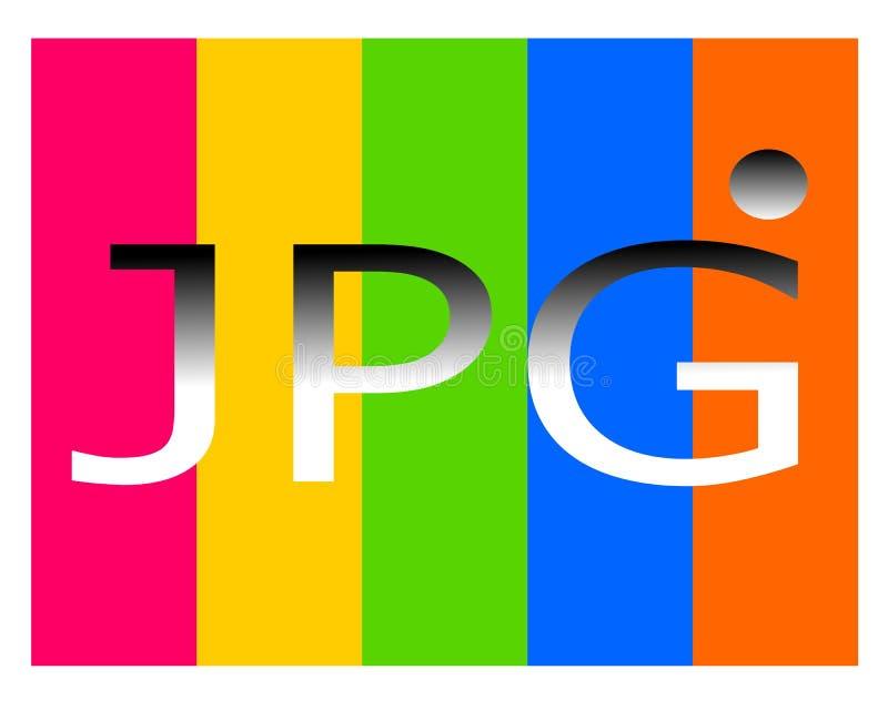 Tirando o logotipo do arquivo do jpg ilustração stock