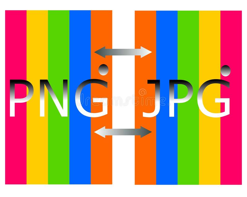 Tirando o png no logotipo do arquivo do jpg ilustração royalty free
