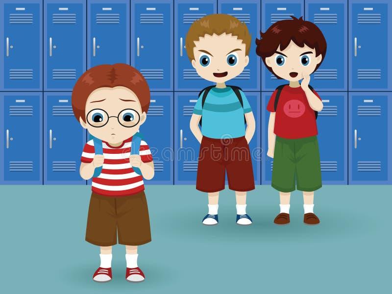 Tiranizar da escola ilustração royalty free