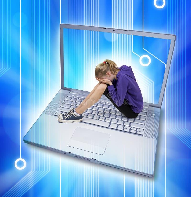 Tiranizar do Cyber do Internet foto de stock