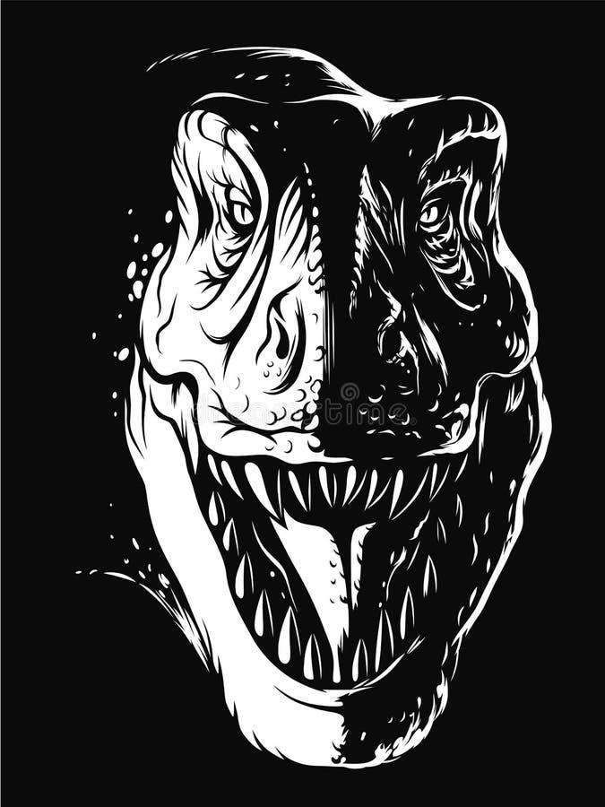 Tiranosaurio en oscuridad libre illustration