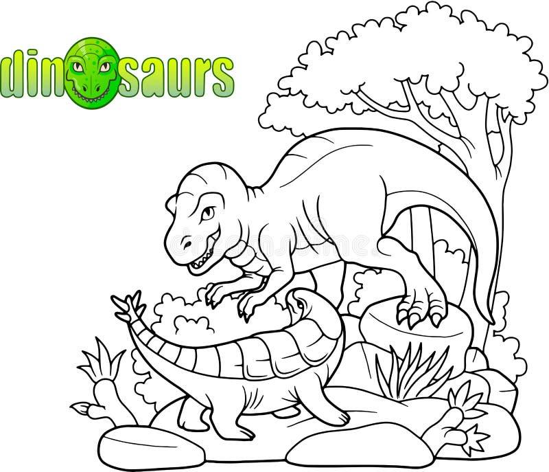 Tiranosaurio listo para atacar stock de ilustración